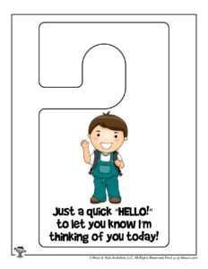 Thinking of You Printable Kindness Activity