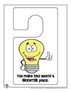 Encouraging Words Printable Door Hanger