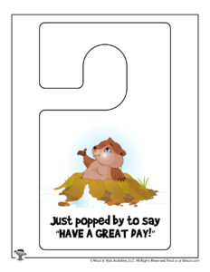 Have a Great Day Free Printable Door Hanger