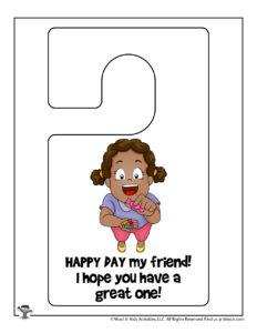 Happy Day Printable Door Hanger for Kids