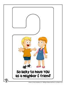 Printable Door Hanger for Neighbor