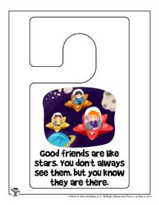 Free Printable Kindness Notes Doorhanger
