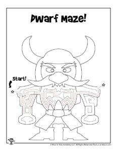 Dwarf Fantasy Mazes for Kids - KEY