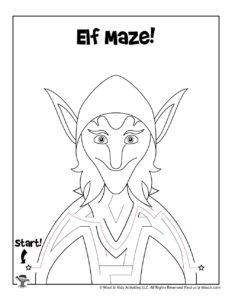 Fantasy Maze Kids Activity Worksheet - KEY