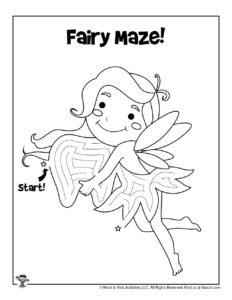 Fairy Preschool Activity Page to Print