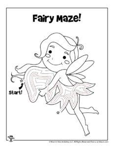 Fairy Maze Puzzle Activity Page - KEY