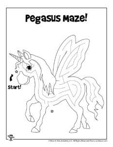 Pegasus Fantasy Maze Puzzle