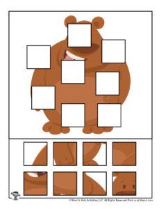 Printable Animal Preschool Puzzle Activity