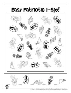 Free Patriotic Boredom Buster Activity Game