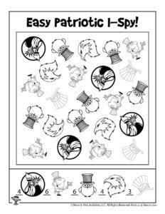 Easy I Spy Game Printable Activity - KEY