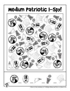 I Spy Printable Game for Patriotic Holidays