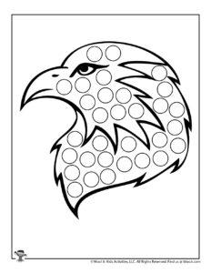 American Eagle Do a Dot Printables