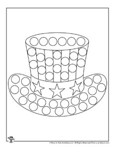 Free Patriotic Dot Marker Coloring Page