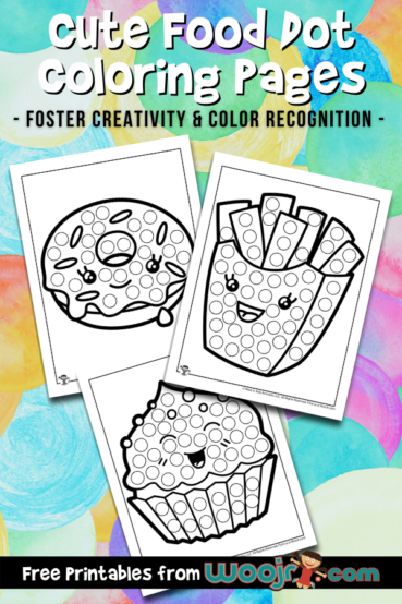 Cute Food Dot Coloring Pages