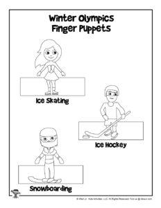 Winter Olympics Athletes Finger Puppets