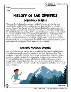 History of the Olympics Lesson Plan