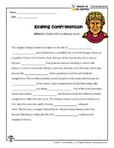 Olympics History Reading Comprehension Printable