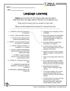 Language Fact Puzzle Worksheet for Teachers