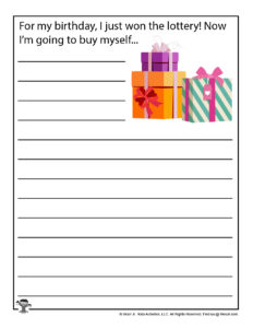 Free Printable Birthday Writing Worksheets