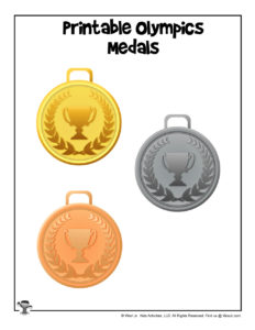Printable Olympics Medals for Kids
