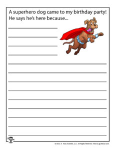 Write Your Own Birthday Story Printables for Kids