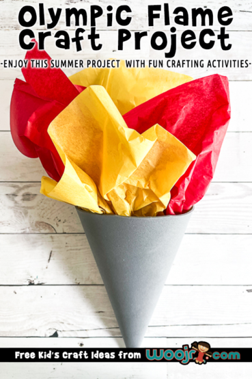 Olympic Flame Craft Project for Kids