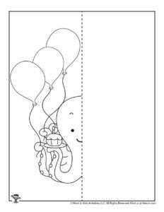 Happy Birthday Balloons Symmetry Drawing Activity
