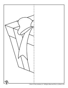 Birthday Gift Symmetry Drawing Worksheet