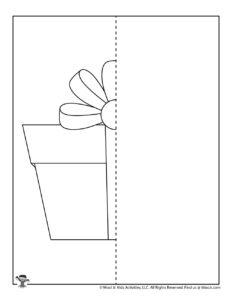 Finish the Birthday Present Mirror Drawing Printable