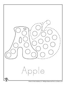 A is for Apple Pre-K Activity Page