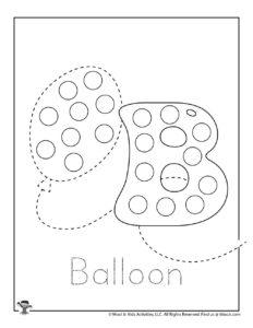 Bingo Dot Marker Printable Coloring Sheet