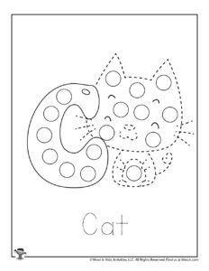 Cute Cat Tracing Activity Page