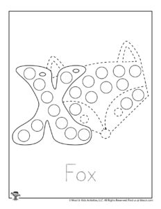 Letter X Dot Marker Coloring Page for Kids