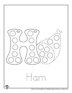 Alphabet Set of Dot Marker Pages