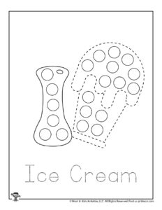 Ice Cream Dot Markers Printables