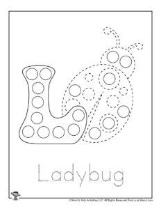 Ladybug Dot Marker Activity Worksheet