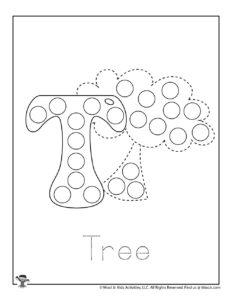 Do a Dot Preschool Tracing Activity Page