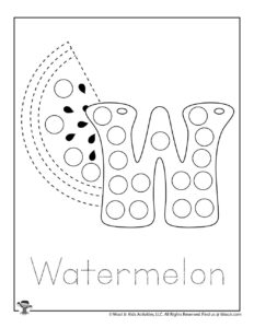 Bubble Letter Tracing Coloring Page