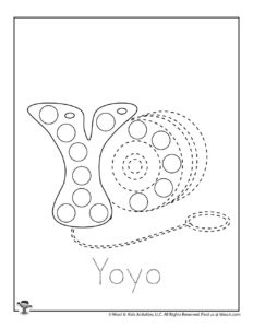 Yoyo Alphabet Dot Coloring Pages