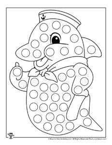Dolphin Do a Dot Printables