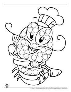 Lobster Do a Dot Preschool Activity Page