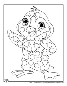 Penguin Do a Dot Printable Coloring Page for Kids