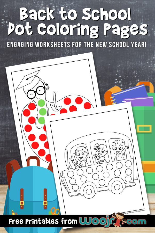 Back to School Dot Coloring Pages