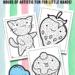 Kawaii Dot Coloring Pages