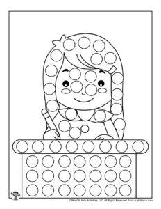 Free Preschool Do a Dot Activity Worksheets