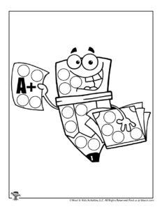 Starting Preschool Dot Marker Activity Page