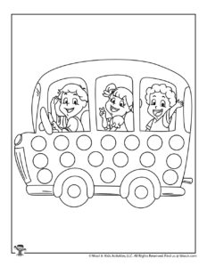 Back to School Bus Pre-K Coloring Page