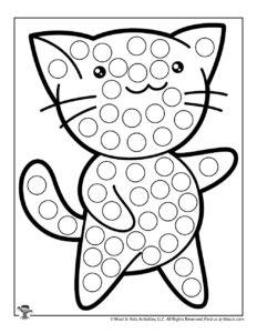 Kawaii Kitty Do a Dot Printables