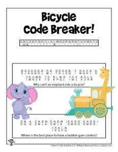 Crack the Code Word Puzzle for Kids - KEY