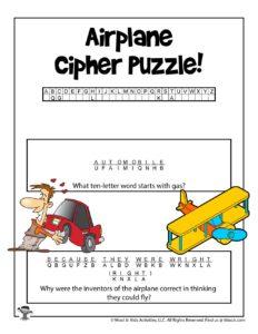Encrypted Transportation Riddles for Kids